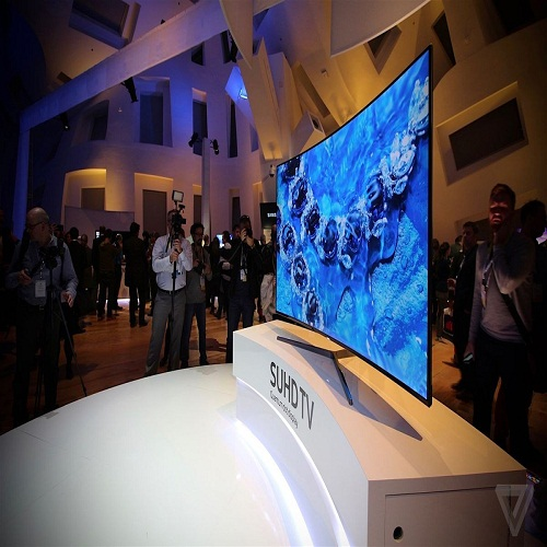 4)	Samsung Curved 98-inch 8K TV
