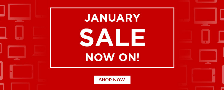 January. January sale, deals, sale, offers, savings, tech, technology, bargains, laptops, tablets, mobiles, pcs