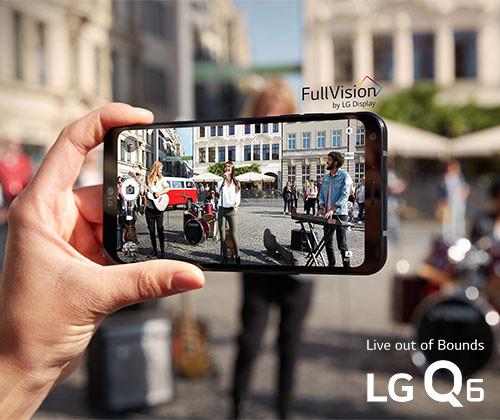 LG; LG Q6; Q6; smartphone; full vision; face recognition;