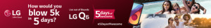 LG Q6 5 days promo banner
