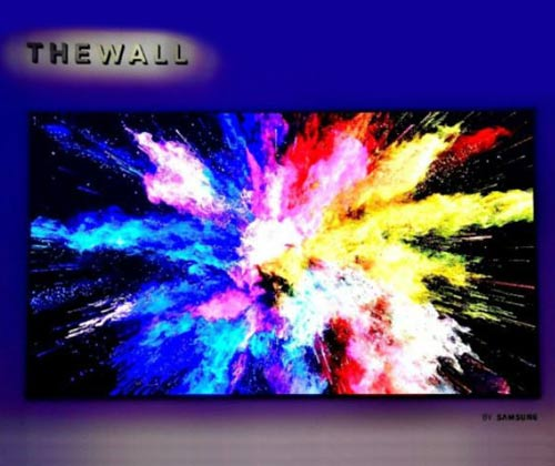 samsung; samsung the wall; television; modular tv; MicroLEDs; LED display; OLED; HD display; LG; CES; CES 2018; technology; tech news; projector;