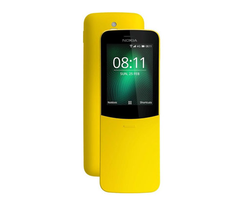 nokia; nokia 8110 4g; banana phone; nokia 8110; MWC; MWC 2018; matrix; mobile phone; 4G; smartphone; Qualcomm; smart feature; Facebook; Twitter; google assistant;