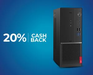 Enjoy 20% Cashback Offer On Lenovo V530S Desktop PC